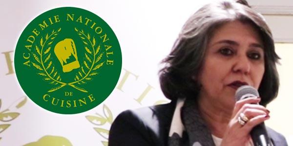 Délégation Tunisienne de l'Académie Nationale de Cuisine : Allocution de Mme Radhia KAMMOUN