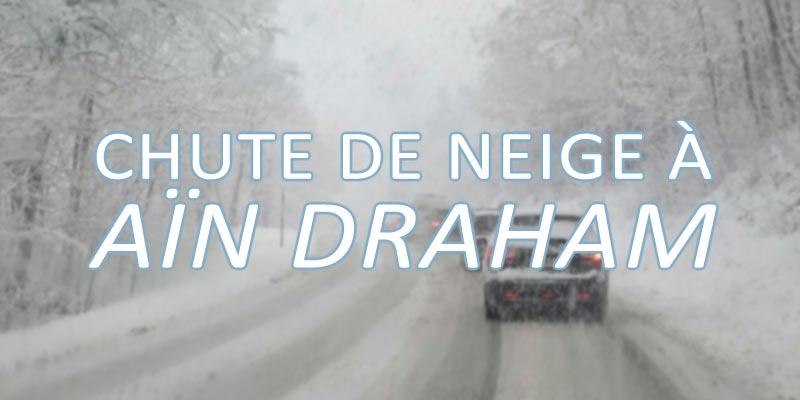 Chute de neige à Aïn Draham qui se pare de blanc