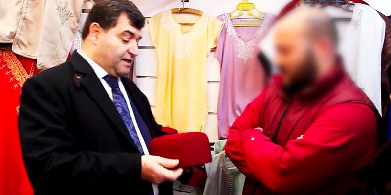 En vidéo : René Trabelsi déclare la guerre à la contrefaçon vendue Sidi Bousaid