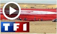 Reportage de TF1 sur le plus grand drapeau du monde