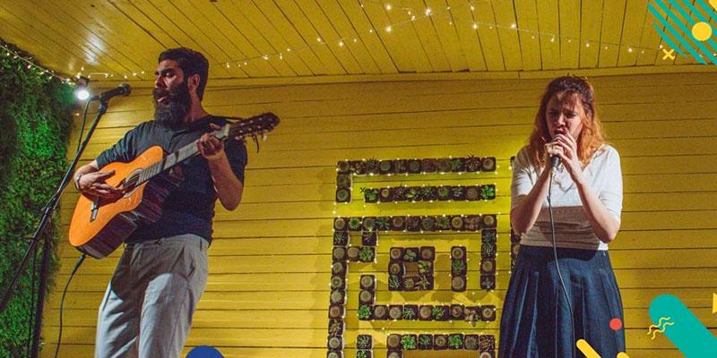 Le duo Ÿuma au festival Artistes Solidaires de la Maison de l'Image